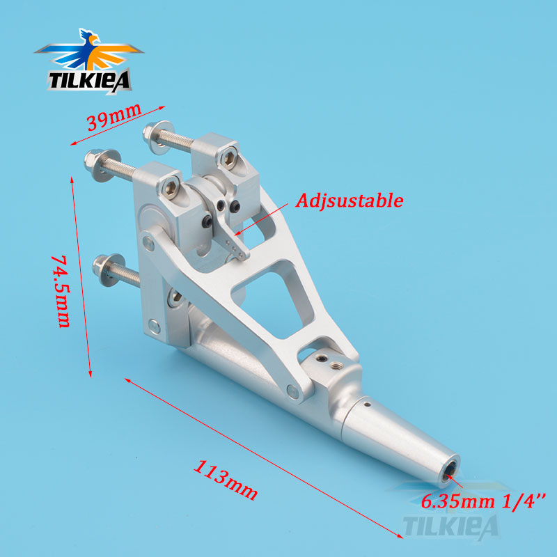 CNC Aluminum Alloy 6 35mm Flexible Shaft Stinger Drive with Adjustable Angle for RC Gasoline Boat