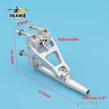 Cnc liga de alumínio 6.35mm eixo flexível stinger drive com ângulo ajustável para rc barco a gasolina