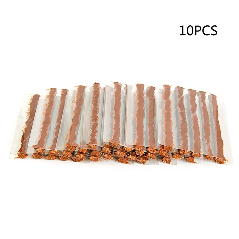 10Pcs/Lot Tubeless Tire Repair Strips Stiring Glue For Tyre Puncture Emergency Car Motorcycle Bike Tyre Repairing Rubber Strips