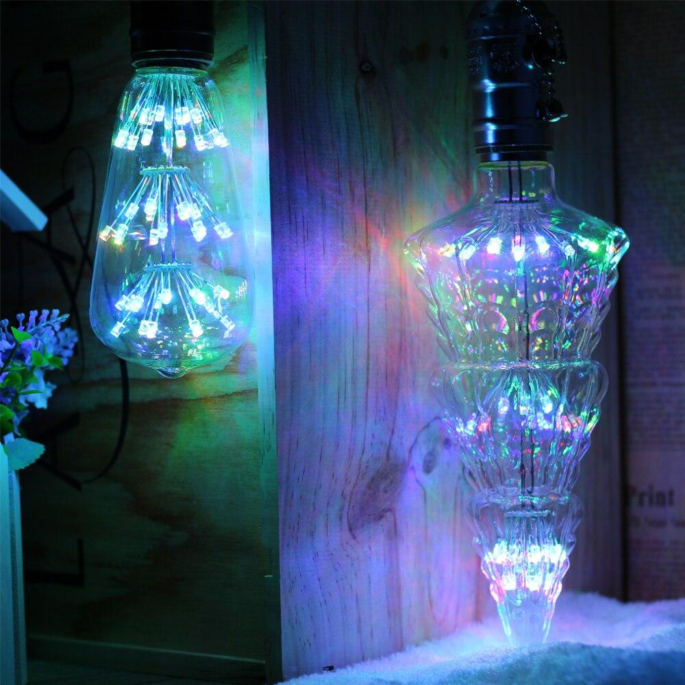 7 colors Led lamp Christmas Tree Starry Sky LED Bulbs E27 AC220V bombillas led for living room bedroom decor 4W lampadas led in LED Bulbs Tubes from Lights Lighting