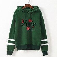 Rose Fashion Clothes Hoodie Valentine Women Sweatshirt Hoodies woman Love Streetwear Black Plus Size Korean Gothic