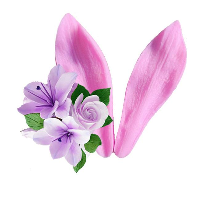 Yueyue Sugarcraft 1 pc Lilie Blütenblatt Design Silikon Backform Fondantform Kuchen dekorieren Tools Schokolade Gumpaste Schimmel