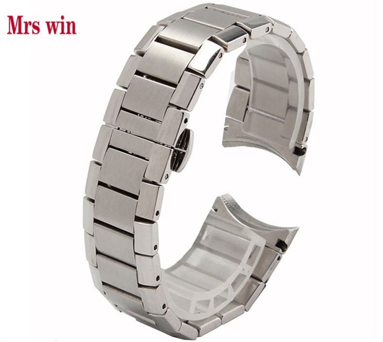 Mrs win New Mens Stainless Steel Silver Metal Bracelet Watch Band Strap 22mm For 2434 Welcome