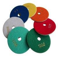 8pcs Lot 4 100mm Diamond Polishing Pads Set Granite Marble Concrete Stone Wet Dry 50 100