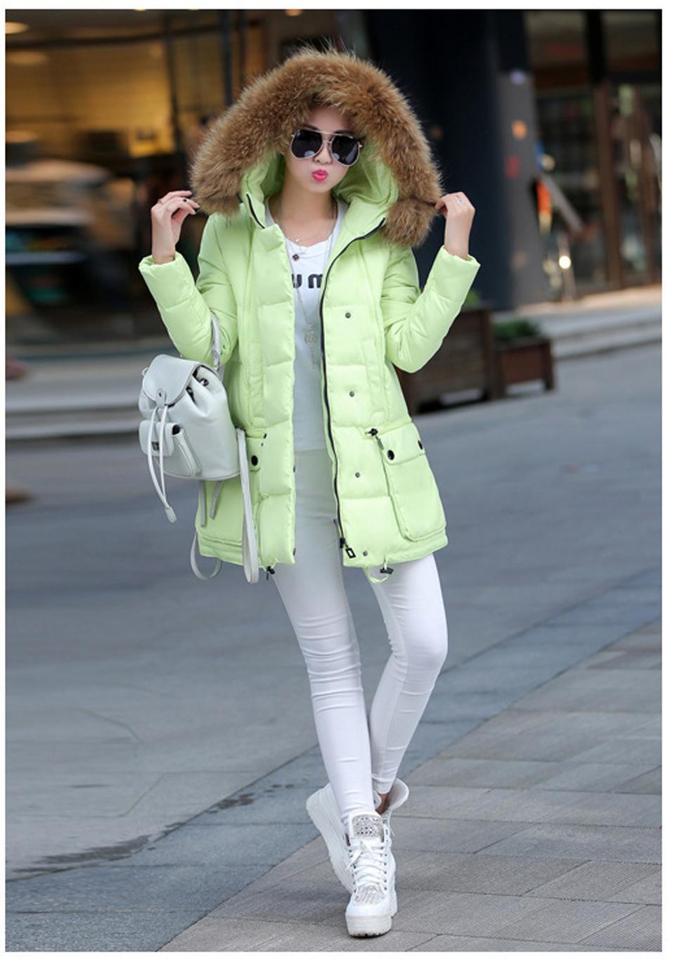 2015 winter women jacket long super large collar parka coat cloak plus size thick Nagymaros collar down jacket wide-waisted