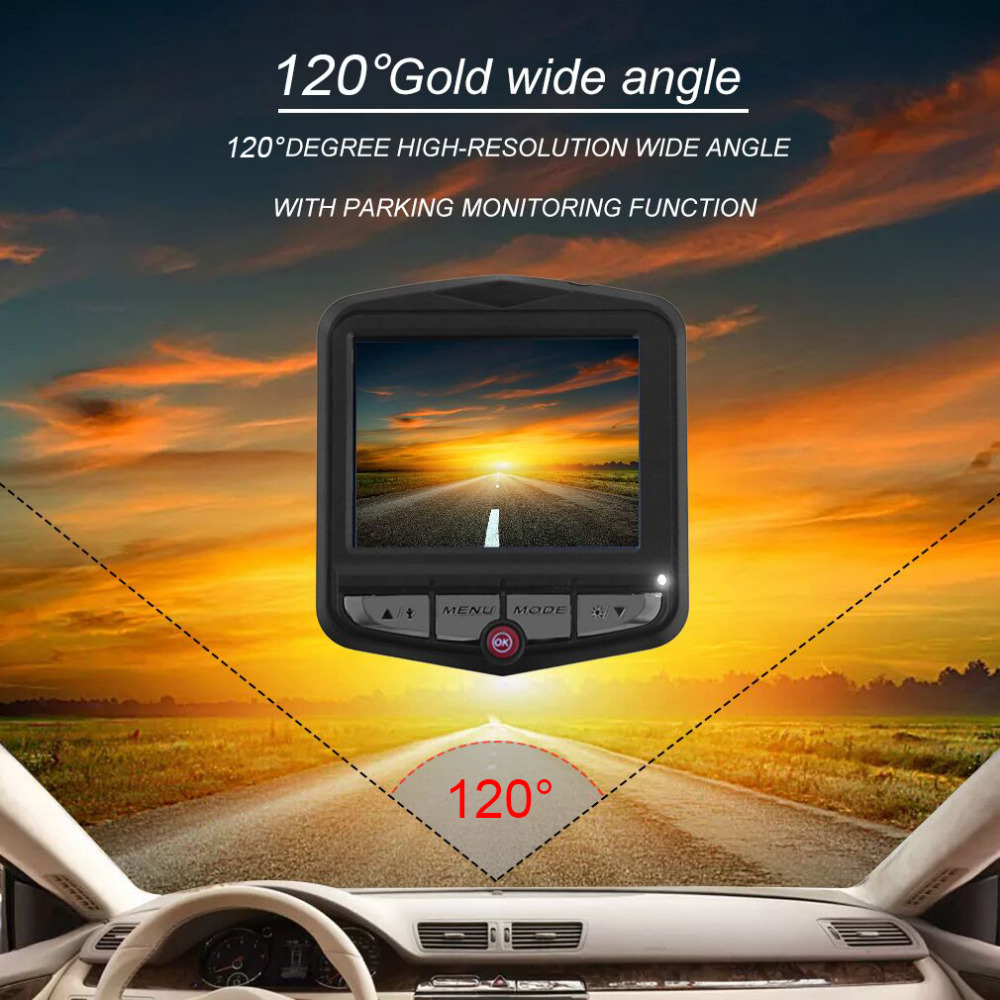 "Camera Video Recorder Vehicle Parking2.4"" HD LCD Car DVR Blackbox Cam Video Registrator Camera Recorder Free Shipping"