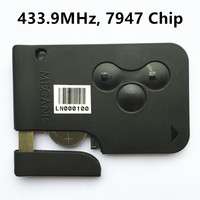 New Remote Key Smart Card 433MHz For RENAULT MEGANE 3 Buttons With Chip PCF7946 Keyless Entry