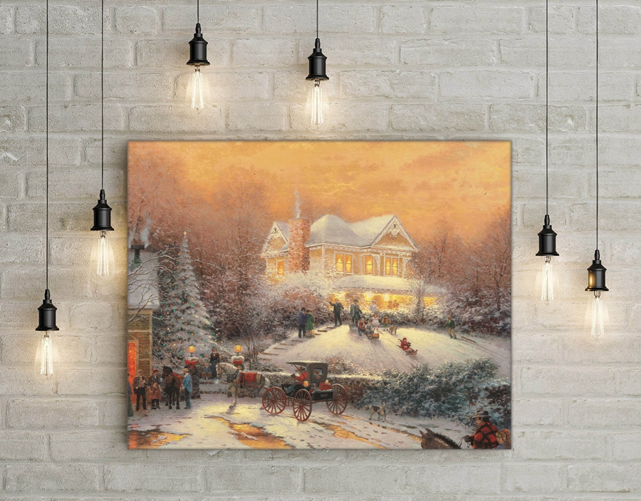 Aliexpress.com : Buy H1366 Thomas Kinkade Victorian Christmas ...