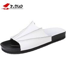 Z.SUO 2017 Summer Fashion Collocation Cow Split Leather EVA Sole Men's Sandals Solid Color Leisure British Style Shoes ZS18105