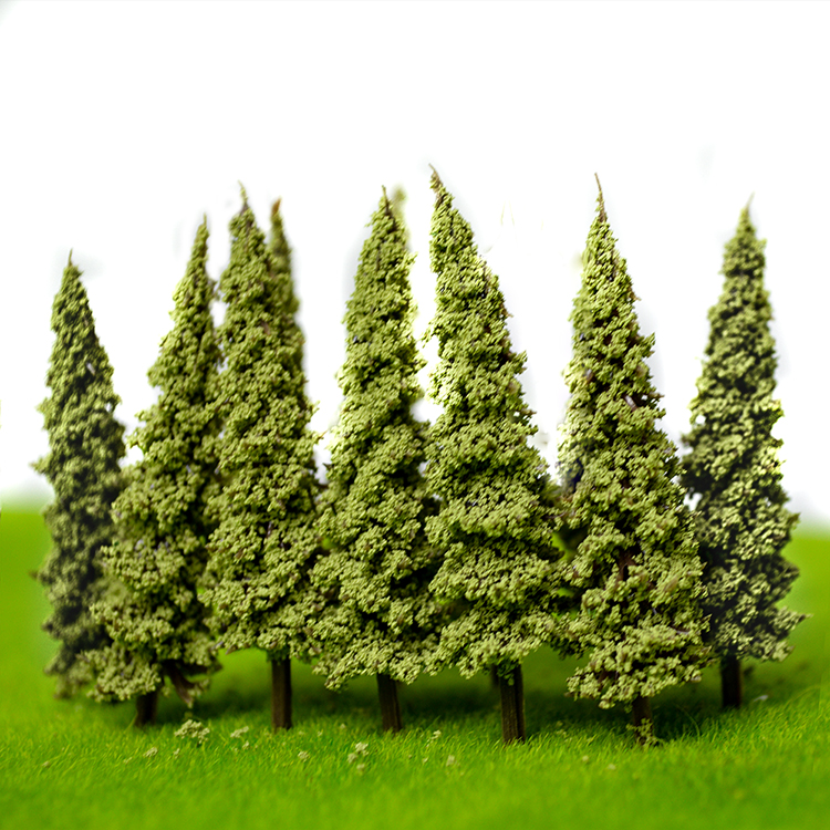 6 5CM green color Railroad Layout Architectural model making materials scale plastic model tree in Model Building Kits from Toys Hobbies