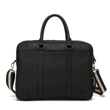 Genuine Leather Men Business Handbags Modern Luxury Multifuntion 14 inch Laptop Briefcase High Quality Casual Men Shoulder Bag
