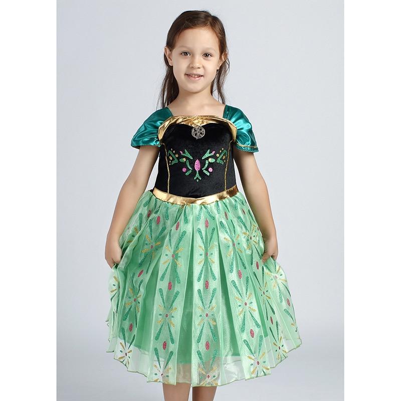 Привет bloom новые 2017 подарок на Хэллоуин маленьких Обувь для девочек зеленое платье Костюм Производительность Платья для женщин с цветочным ...