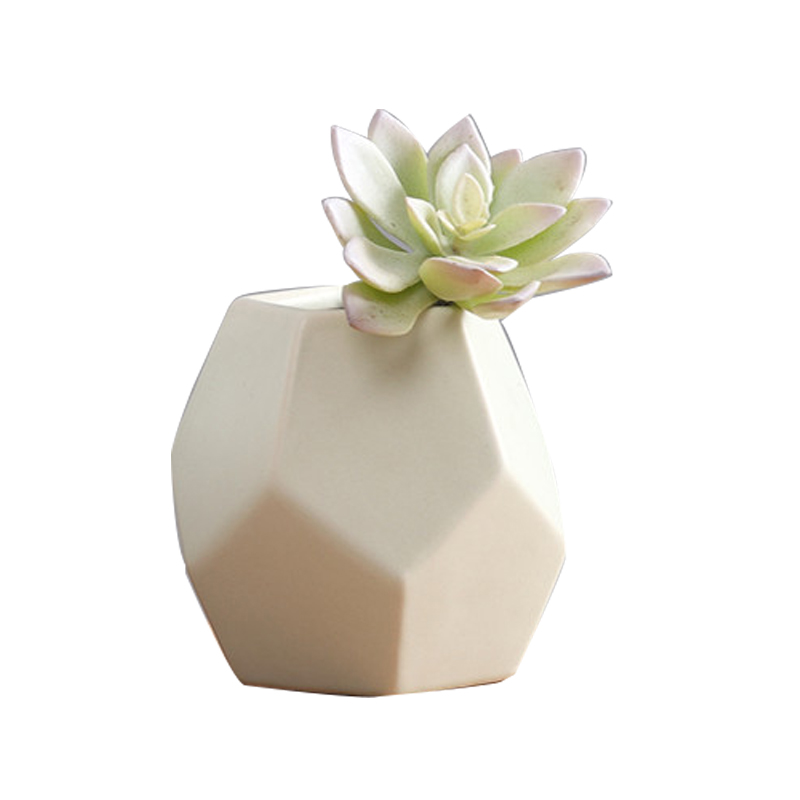 US $42 99  silicone mold Modern minimalist ceramic flower vase Nordic  creative geometric home decoration cement 3d vase molds-in Cake Molds from  Home