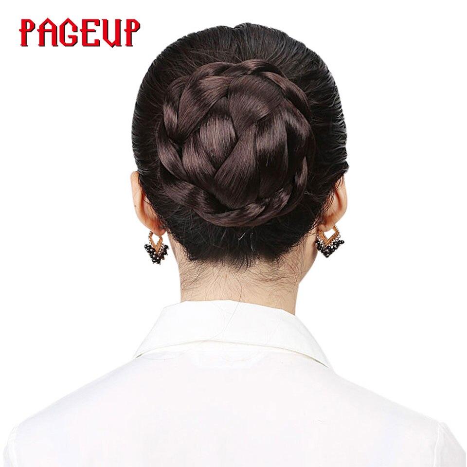 Pageup Kleine Größe Gestrickte Haar Geflochtene Chignon Synthetische Haarknoten Donut Roller Haarteile Haar Haar Zubehör