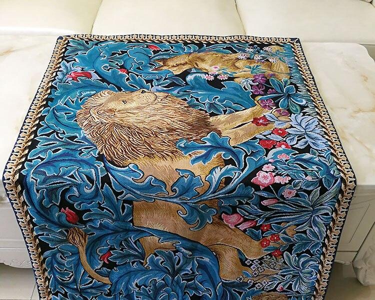 82x140cm trabajo de guillotín Rey León tapiz decorativo para colgar en la pared decoración marroquí de Bélgica alfombra de algodón - 6