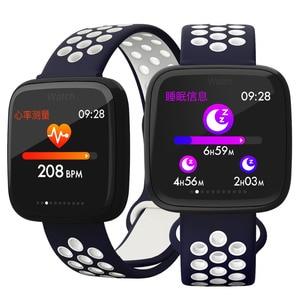 Умные часы для мужчин и женщин, фитнес, кровяное давление, квадратный экран, педометр с сенсорным управлением, Bluetooth, умные спортивные часы д...