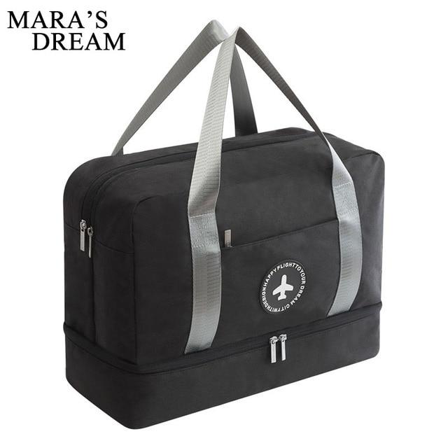 c9a6b44784e7 Mara s Dream Men travel bag high quality waterproof large capacity canvas  bag Dry and wet separation Men stoage bag