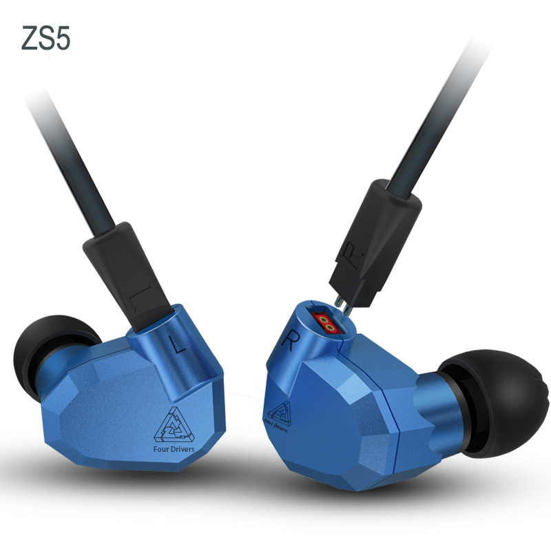 Original KZ ZS5 2DD+2BA Hybrid In Ear Earphone Running Sport Earphones Earhook Headset Earbud HIFI IE80 IE800 UE900 ZS3 SE535 kz zs6 earphones 2dd 2ba 8 drivers hybrid in ear stereo sport headset suitable hifi noise isolating monitor headphones zs5 pro