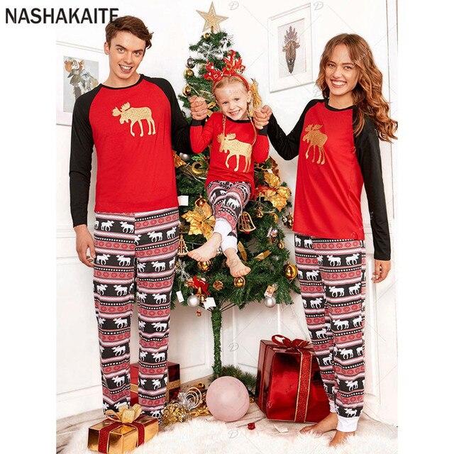 457d5e2317 Family christmas pajamas Bear Printed Xmas family pajamas Family matching  clothes father son matching clothes mama