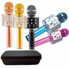 WS858 Bluetooth беспроводной конденсаторный волшебный микрофон караоке для мобильного телефона плеер микрофон динамик Запись музыки