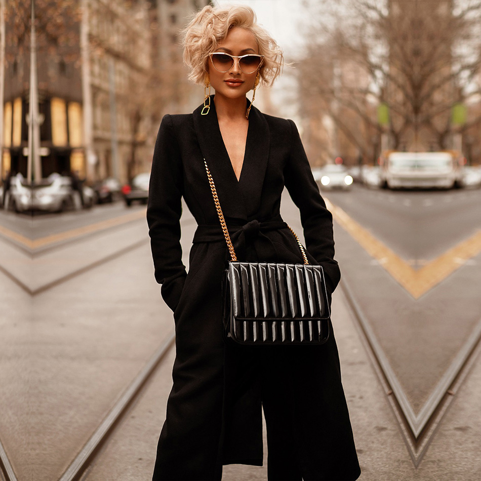 Adyce 2019 New Spring Women Slim   Trench   Coats Sexy Black Deep V-Neck Belt Coats Long Sleeve Sashes Midi Fashion Club Party Coats