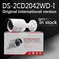 Em estoque frete grátis versão em inglês DS-2CD2042WD-I 4MP Câmera IR Rede Bala Suporte H.264 +
