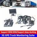 Такси/Автобус 3G GPS грузовик мониторинга комплект PAL/NTSC видео может быть наложен Дата часы, номер автомобиля, скорость, тормоз, сигнал тревоги