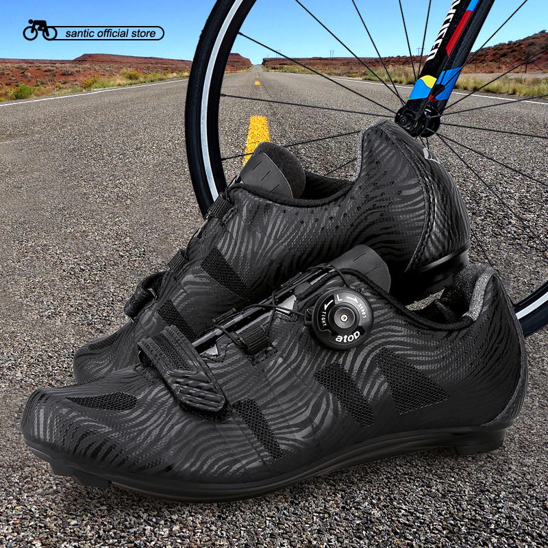 Santic Men Cycling Road Shoes Lace-up Nylon Sole Cycling Athletic Racing Team Bicycle Shoes Breathable Cycling Clothings MS17005 free shipping breathable athletic cycling shoes road bike bicycle shoes nylon tpu soles for road racing mtb eur35 39 us3 5 7