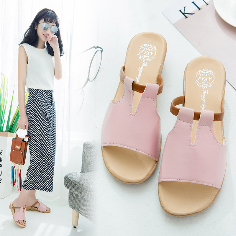Sandals Women's Shoes Flat-Sole Beach-Fashion with Korean-Version of Leisure Slipper-Proof