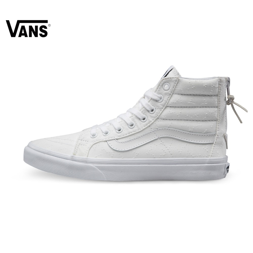 Original Vans New Arrival White Color High-Top Women's Skateboarding Shoes Sport Shoes Canvas Shoes Sneakers original vans white color women skateboarding shoes sneakers beach shoes canvas shoes outdoor sports comfortable breathable