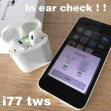 Original i77 TWS 1: 1 mini Bluetooth 5.0 Wireless 3D heavy bass earphones for not airpods earpods air pods ear pods pk i100 tws
