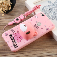 For Huawei Honor 8 Silicone Case 5 2 Cute 3D Cartoon Animal Rabbit Bear Totoro Stand