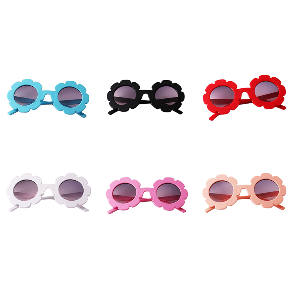 Baby Glasses Head Accessory Baby Round Flower Sunglasses Children Decoration