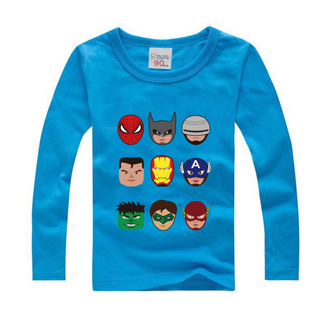 a606f8ab1 2018 New Fashion Spring Big Girl T-shirts Children Cartoon Boys Long sleeve  T shirts 12 14 Kids Clothes Cotton Shirt Girls Tops