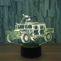 Usb Led 3d Light Remote Touch Colorful Desk Lamps Creative Gift Table Lamp Mini Led Lights
