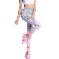 Print Yoga Pants Tights Fitness Gym Running Leggings Flower Sport Tights Women Yoga Leggings Quick Dry