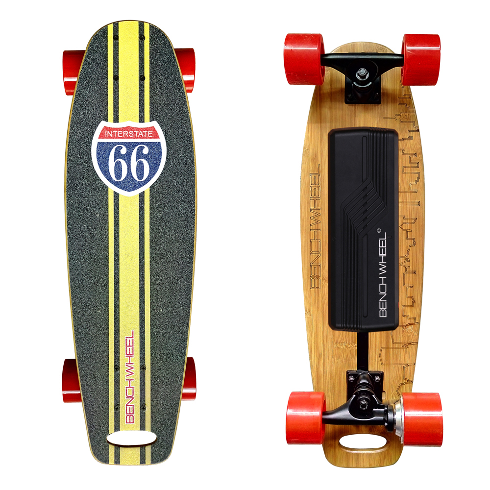 Benchwheel  electric skateboard single  hub motor drive  fish plate penny board outdoor 2 4g frequency wireless remote control small fish board electric skateboard motorized hub adult scooter one motor