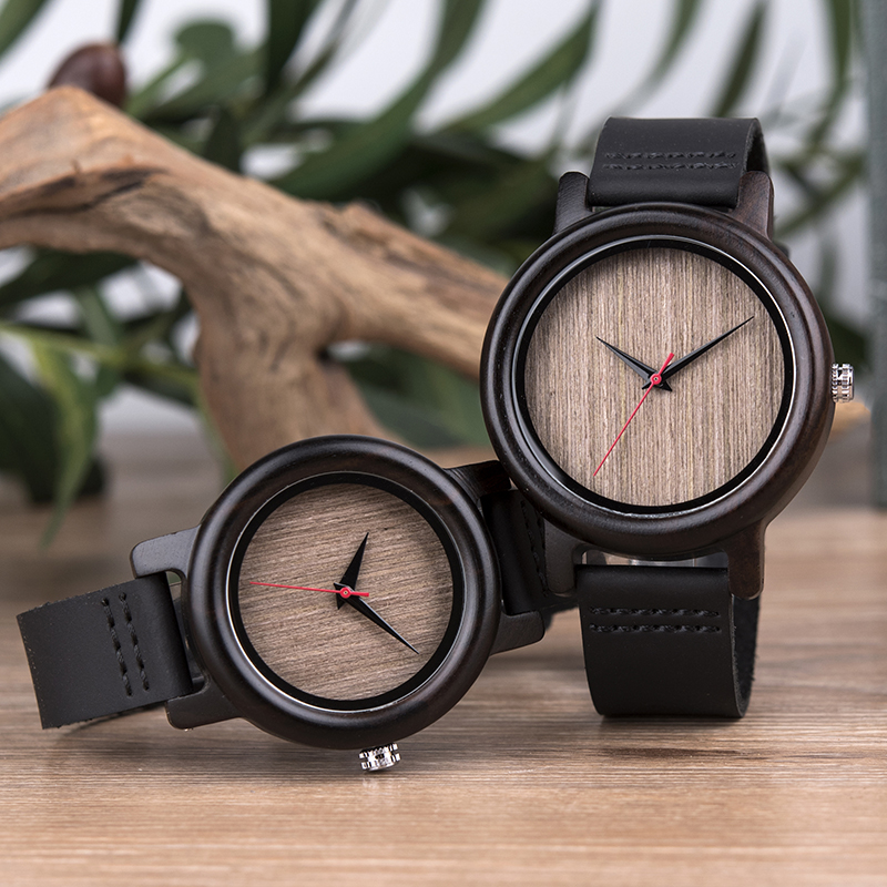 DODO DEER Lovers Wood Watches For Women Men Leather Band Bamboo Lover Couple Casual Quartz Watches Ladies OEM As Gift Oem B18