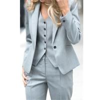 Для женщин s формальная одежда брюки для девочек uits дамы индивидуальный заказ офисные пиджак делового костюма + жилет Новы
