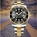 PAGANI DESIGN Da Marca de Relógios Homens de Negócios Do Esporte Relógio À Prova D' Água Homens de Aço Inoxidável Mecânico Automático Relogio masculino + caixa