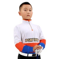 Boys Zipper Golf Trainning T Shirts Breathable Quick Dry Clothing Long Sleeve Tennis Golf T Shirts High Quality AA51876