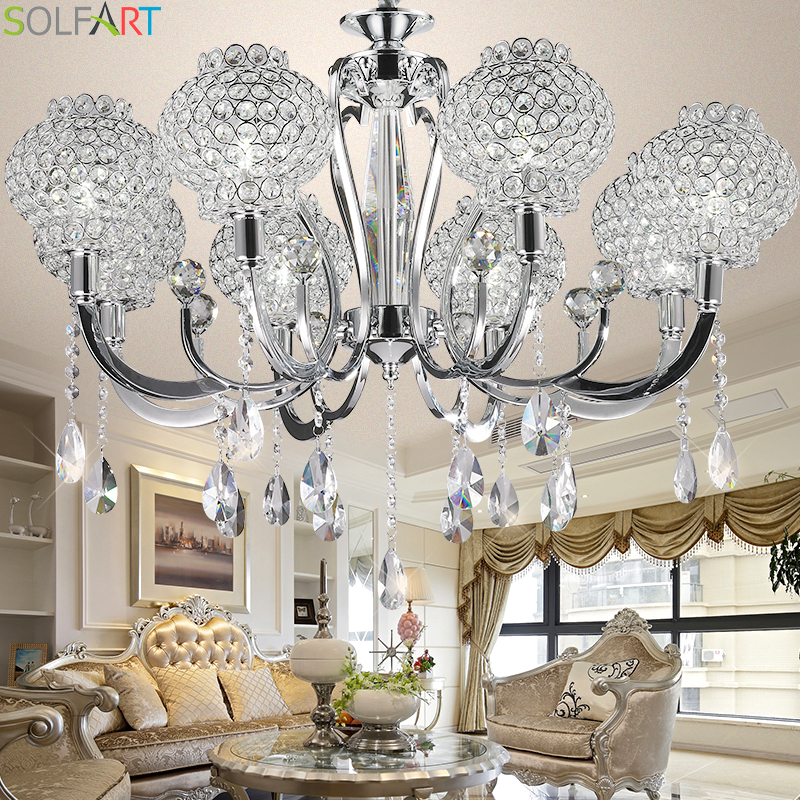crystal chandelier iron lustre led industriel lighting modern lighting pendant ce bedroom. Black Bedroom Furniture Sets. Home Design Ideas