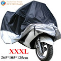 XXXL Outdoor Waterproof Motorcycle Cover UV Dust Protector Motorbike Bike Scooter Rain Cover Black & Silver Motor Sewing