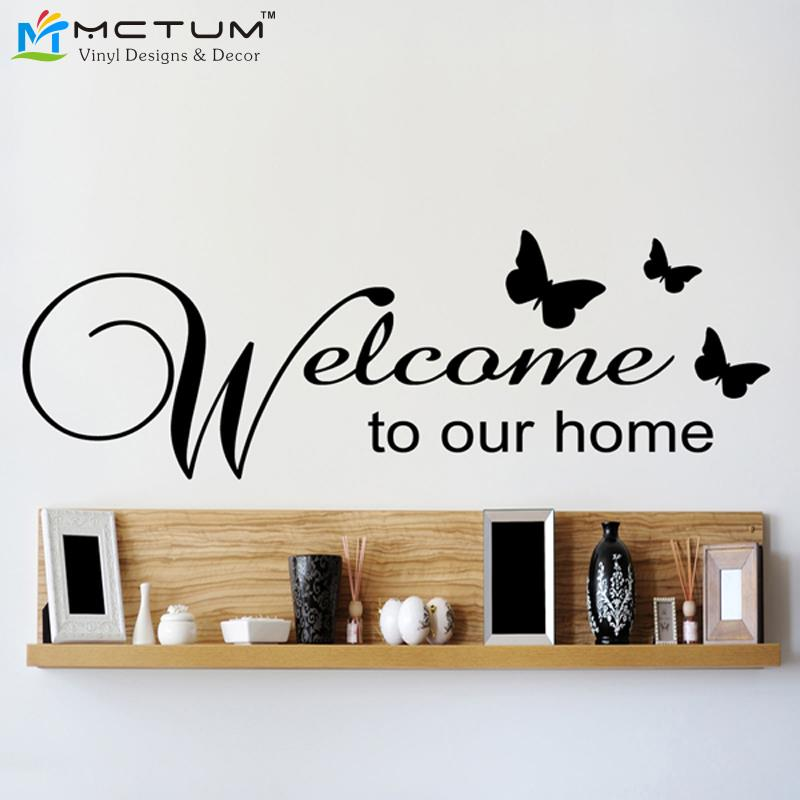 Free Shipping Family Is Vinyl Wall Lettering Quote Wall: Free Shipping Welcome To Our Home Family Wall Sticker