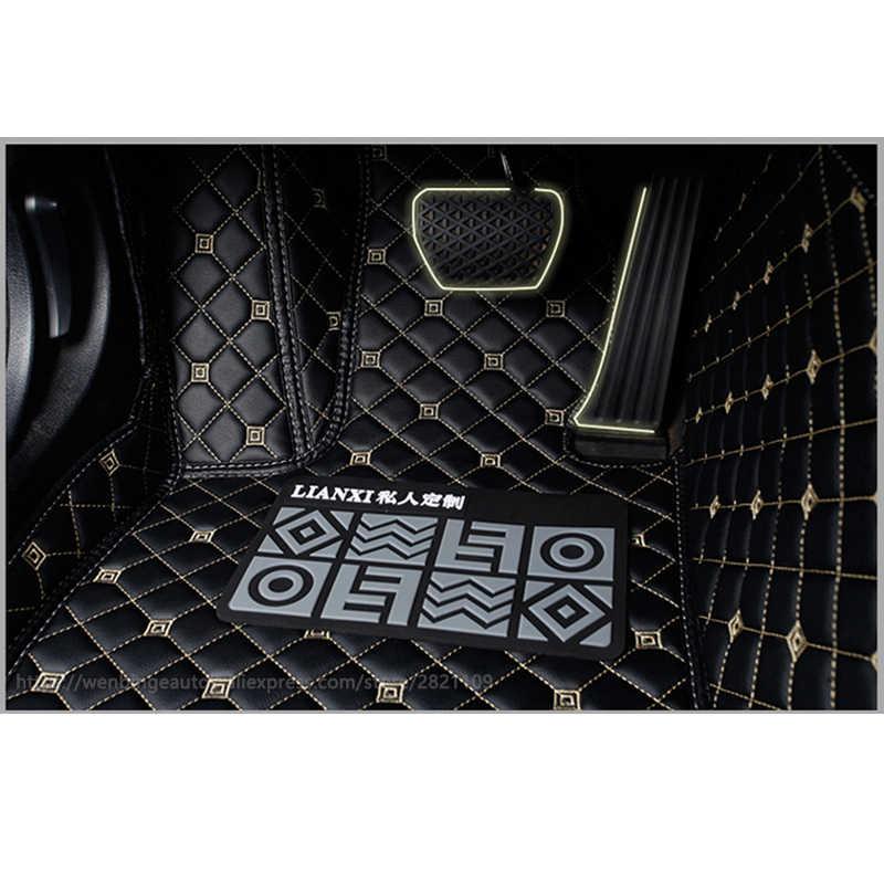 Flaş mat deri araba paspaslar Toyota Corolla Camry için Rav4 Auris Prius Yalis Avensis Alphard 4 Runner Hilux highlander ayak