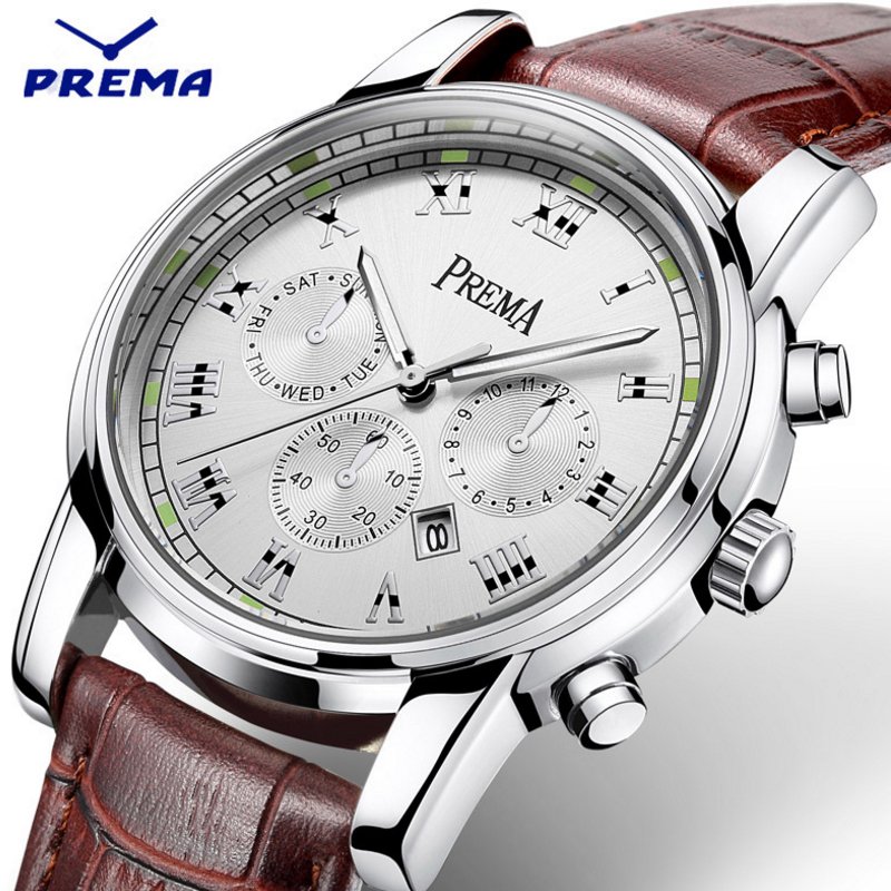 Image 3 - Prema Men watches 2019 luxury brand stainless steel waterproof quartz brand wrist Watch male bracelet Wristwatches gift clockWomens Watches   -