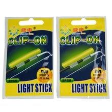 Clip On! Fishing Glow Stick 1 Box 2.0-2.6mm M# Light Stick Dry Type Snap Clip On Fishing Rod Top Glow Stick Fishing Accessories