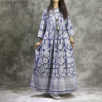 Chinese oriental style autumn dress boho chic mexican hippie ethnic style dress long sleeve tribal clothing AA4076