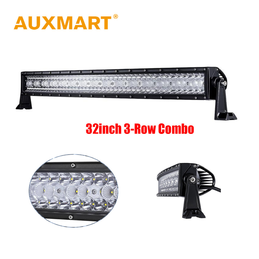 Auxmart LED Car Light Bar 32 Inch 360W Offroad Driving Combo Beams fog LED Work light Bar Pickup Tractor Truck SUV ATV 4X4 Wagon 11 60w led work light bar for atv 4x4 combo led offroad light bar tractor offroad fog light work light seckill 36w 72w