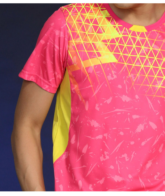 Free Printing Name Tennis wear shirt Women/Men's , sports Badminton shirts , Table Tennis tshirts, Quick dry sportswear 1835 2